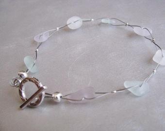 Pastel Sea Glass Bracelet - Beach Glass Bracelet - Unique Bracelet - Beach Glass Jewelry - Ocean Jewelry Gifts of the Sea - Pure Sea Glass