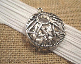 Antique Silver Aztec Pendant