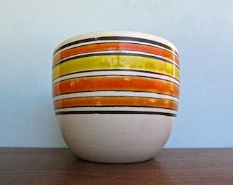 Raymor Planter 239/13 in Orange,Yellow, Brown, Tan, Rosenthal Netter, Mid Century Italy