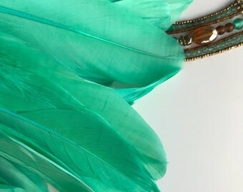 PRIMA GOOSE Feathers, Mermaid Green   /  P - 26