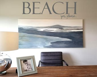Beach, Yes Please Wall Decal/Wall Words/Wall Transfer
