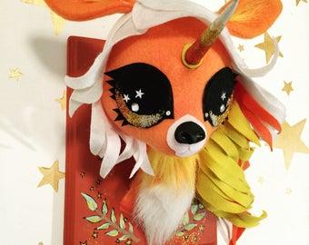Candycorn Unicorn Faux Taxidermy