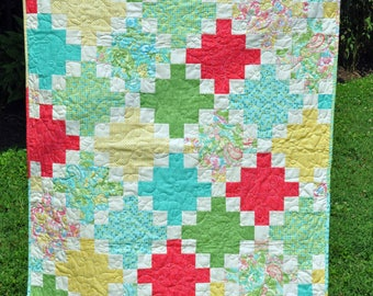 Modern Building Blocks Nap Quilt