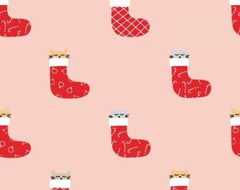 FABRIC CHRISTMAS KITTENS in Stockings    We combine shipping
