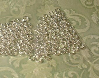 Jump Rings, Silverplated, 4mm, 100 pcs  ...no.1024-SPJR