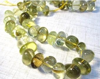 SALE 20% Off Natural Lemon Quartz Beads Oval Nugget, Big Pebble Oro Verde Mine Brazil Gemstone 8mm 15mm