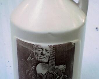 willie nelson small jug moonshine whiskey handmade