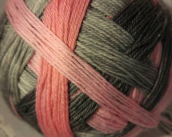 Flamingo street self striping sock yarn