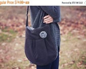 ON SALE CONCEALED Carry Purse-- Black Small Cross Body Ccw Handbag, Conceal Carry Purse, Classic Black concealed carry handbag, concealed ca