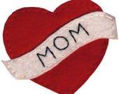 Mom Heart Tattoo Acrylic Felt Embellishment