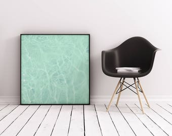 Swimming Pool Art. Abstract Photographic Print, Green Wall Art - Water