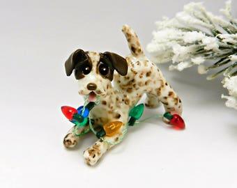 German Shorthaired Pointer Christmas Ornament Figurine Lights Porcelain