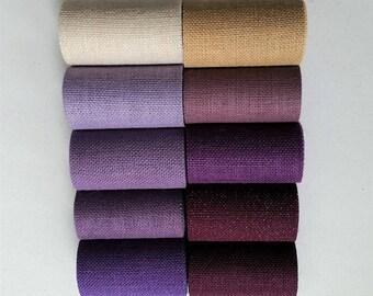 4 inch wide Premium Burlap Ribbon - Purple - Dusty Lavender - Violet -MULBERRY