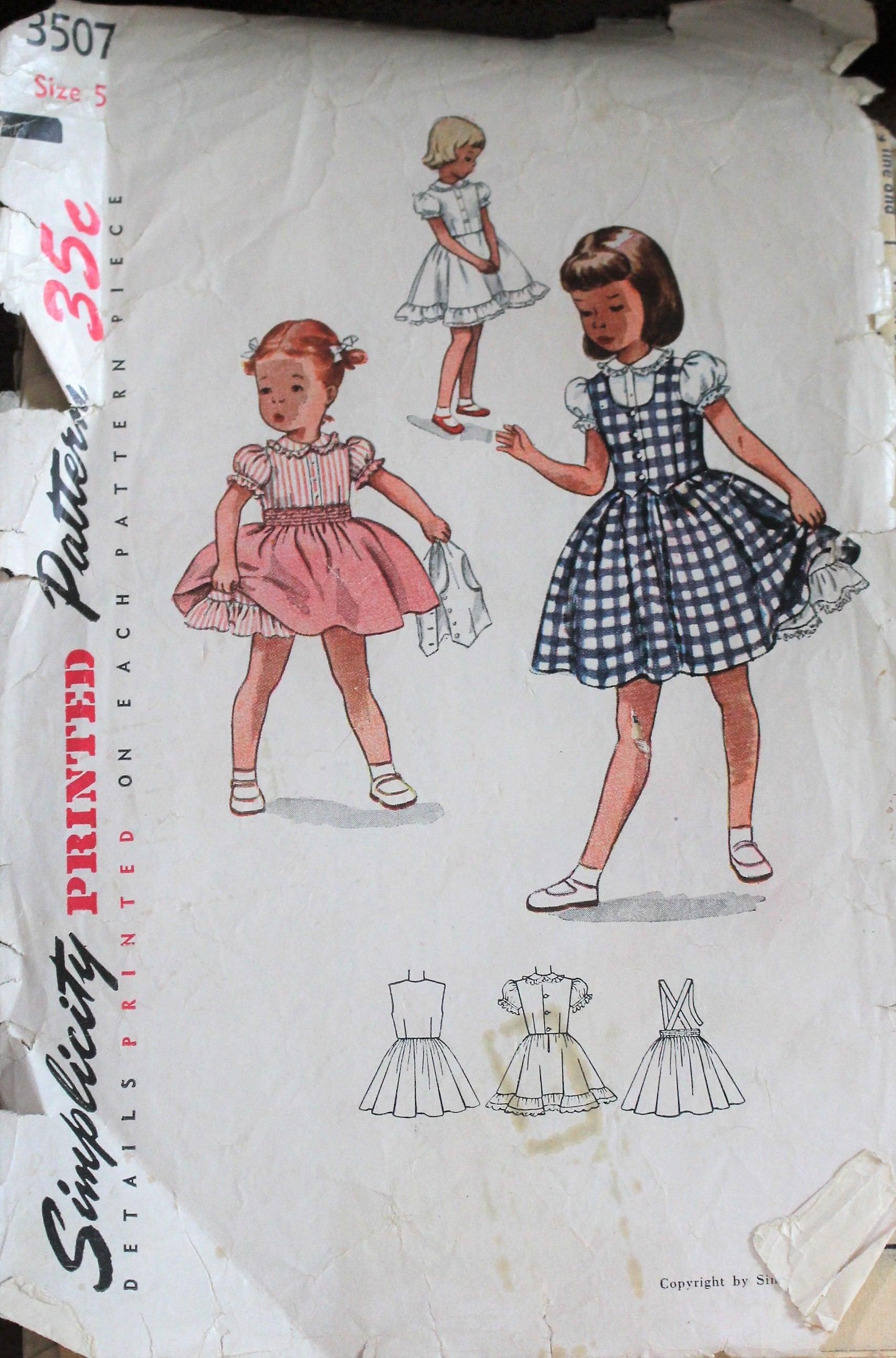 ÚNICO! Patrón de costura vintage de los años 1950 simplicidad #3507 ...