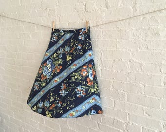 Blue swept / bias skirt / summer on Sale