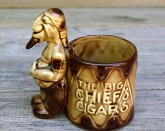 Kitschy Vintage Cigar Holder The Big Chief's Cigars