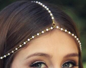 SUMMER SALE CHAIN Headpiece- chain headpiece / head chain / boho chic