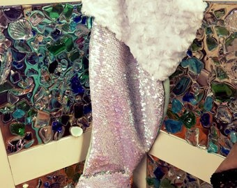 Mermaid Christmas Stocking Sequin Color Changing