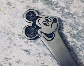 Vintage Mickey Mouse Disney Baby Fork Stainless Flatware Bonny Japan