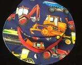 Reversible trucks fishing hat newborn //reversible fishing hat//toddler boy hat//digger hat// boys sunhats//toddler boy truck hat//boys hat