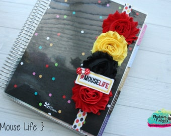 Planner band { Mouse Life } mickey minnie, red, black, yellow, valentine's day band planner girl accessories bible band, baby headband