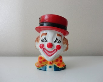 VINTAGE 1974 plastic CLOWN PLANTER