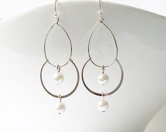 Pearl Chandelier Earrings Pearl Earrings