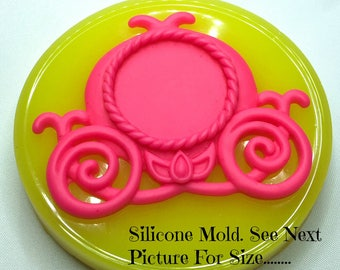 Silicone Mold, Princess Carriage, Resin Mould, Polymer Clay Molds, Soap Embed Mold, Wax Melt Mold, Flexible Molds, Fondant Mold