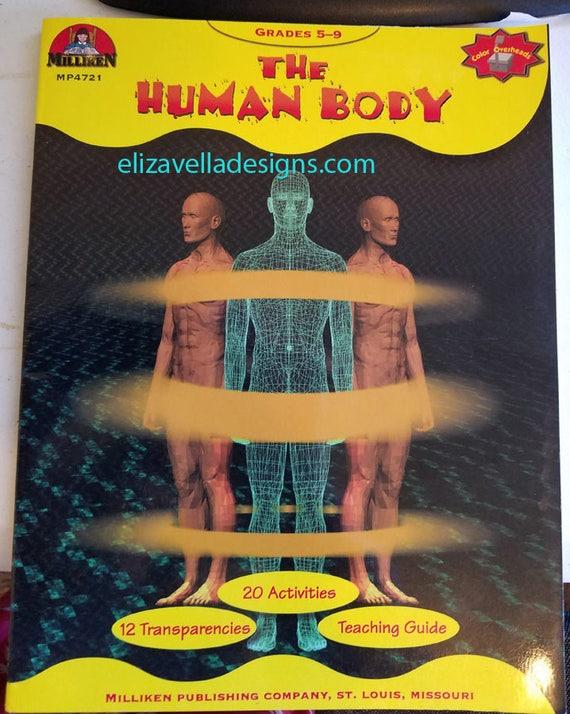 The Human Body Anatomy worksheet book grades 5-9 science 1986 vintage homeschool books