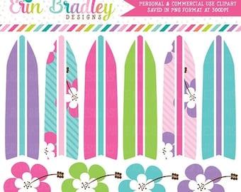 50% OFF SALE Girls Surfboard Clipart, Surfing Clipart, Beach Vacation Clip Art Graphics, Summer Clip Art