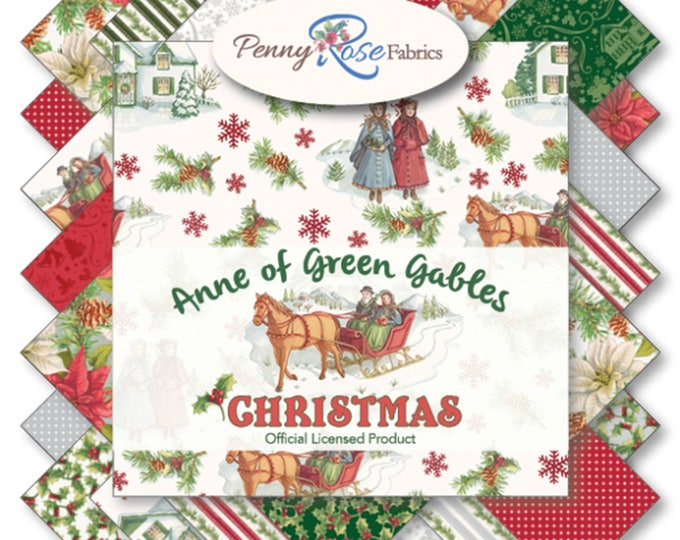 ANNE of GREEN GABLES, Holiday Christmas 10 inch Cotton Stacker by Penny Rose Fabrics