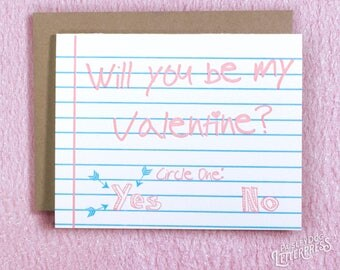 Valentines Day - Letterpress Greeting Card - Be My Valentine (single)