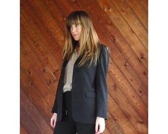 20% off SUMMER SALE. . . Black IKE Behar Designer Menswear Blazer - Vintage 90s - S