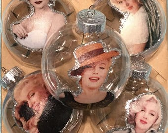 Marilyn Monroe inspired Christmas ornaments