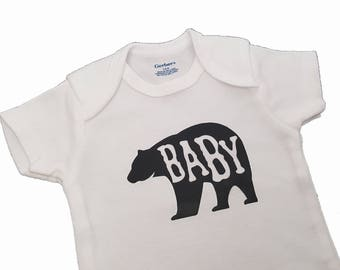 Baby Bear Onesie with Font Options