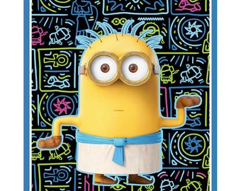 """36"""" Fabric Panel - Quilting Treasures Pixar Egyptian Minion Wallhanging"""