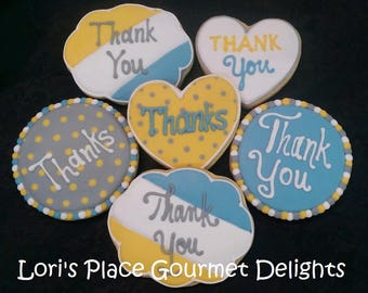 Thank You Cookies - Thank you gift - 6 Cookes