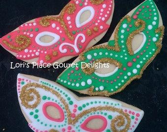 Christmas Masquerade Masks - 6.00 each
