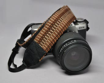 """34"""" Strength-Lined Hand Woven Adjustable Camera Strap (Blue)"""