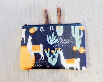 Llama Pencil Case/ Gift for Her/ Make Up Bag/ BFF Gift/ Bridesmaid Gift/ Birthday Gift/ Gift for Mom/ Wife Gift/ Pouch/ Gift for Girlfriend