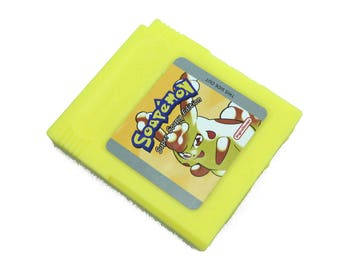 Soap Pokemon Yellow Parody, Soapemon Gameboy Cartridge, Retro Video Game Geek Gift, Geeky Soap