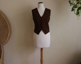 Vintage suede womens vest