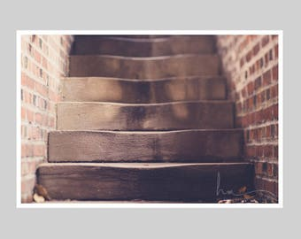 rustic steps art, stone staircase, stone stairs photo, wellesley historic steps, architectural print, rustic print decor, fine art print