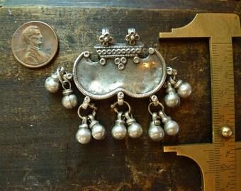 Sterling charm pendant ~ India, vintage