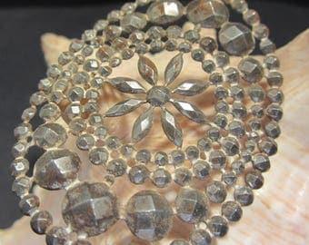 Cut Steel Embellishment Vintage  30's