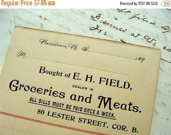 ONSALE Antique 1800s Gorgeous Invoice Ledgers Kitchen Ephemera lot