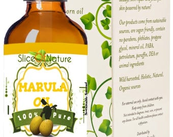 Slice Of Nature Virgin Marula Oil Wild Harvested skin treatment oil for face and hair