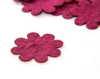 200 Burgundy Plantable Seed Paper Flower Confetti diy wedding favors, place cards, save the date cards creative invitations by Nature Favors