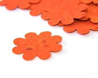 200 Orange Plantable Seed Paper Flowers Fall or Spring Wedding Favor Bridal Shower Favor Baby Shower Favor DIY Bridal Invitation Party Favor