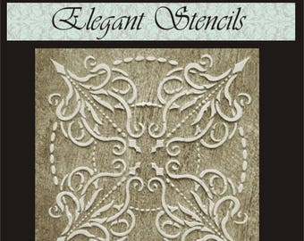 Wall Stencil Plaster Stencil Regal Medallion Wall Decor